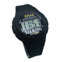Wholesale elderly watches for sale - Group buy English Talking Sports Watch for the Elderly and Visially Impaired People TE