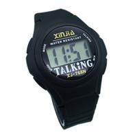 konuşan saatler toptan satış-Yaşlı ve Görme Engelliler İçin İngilizce Konuşan Spor Saati, 768TE