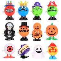 ingrosso salto di bambola-8 stili Jumping Halloween Wind-up Toy Funny PVC Pumpkins Ghost Skull Smile Face Doll Giocattoli Giocattoli per bambini Regalo di Halloween