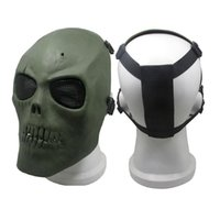 metal kafatası maskeleri toptan satış-Airsoft M01 Kafatası Metal Net Göz Taktik Kullanımı Canavar Yüz Maskeleri Plastik Kamuflaj Yüz Kapak Maskeler Maske