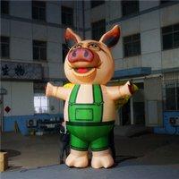 globos inflables publicitarios al por mayor-Globo inflable gigante de cerdo de tamaño 5 m Alto Globos gigantes de cerdo para publicidad de Inflatables City Parade