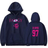 logo fantezi toptan satış-2019 Twice Fantezi Hoodies Kadınlar / Erkekler Sonbahar Logosu Baskılı Kazaklar Kazak Casual Sıcak Satış Kore Bayanlar Giyim Artı Boyutu