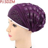 bandanas de algodão venda por atacado-Mulheres Stretchy Turbante Headband Lenços de Algodão Faixas de Cabelo Chapéu Cabeça Envoltório Bandana Headwear 11 Cores