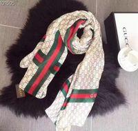 wickelkragen groihandel-Frauen Seide Schals Luxusmarken Schal für Frauen 2019 Neue Designer Saum Lange Schals Schals Wrap Mit Tag 180x90 Cm Schals Kragen Stirnband