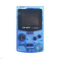 Wholesale retro gaming online - 5 Colors Transparent GB Boy Retro Classic Handheld Game Console Gaming Machine quot Backlit Screen