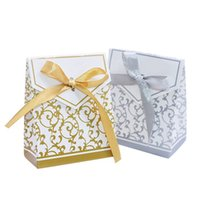 Wholesale baby shower packages for sale - Group buy 10Pcs Gold Silver Paper Candy Box Gift Bag Wedding Gift Packaging Baby Shower Favors Birthday Party Supplies Wedding Candy Box