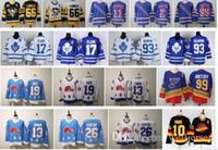 ingrosso jersey joe nordico nordico-Vintage Joe Sakic Doug Gilmour Wendel Clark Pavel Bure Mats Sundin Peter Stastny Toronto Maple Leafs Quebec Nordiques Retro Hockey maglie