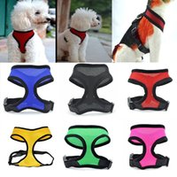 Wholesale vest harness small dog for sale - Group buy Nylon Pet Mesh Harness Soft Net Dog Mini Vest Adjustable Breathable Puppy Harness Dog Supplies WX9