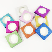 Wholesale cosmetic paper box packaging for sale - Group buy Square False Eyelash Case False Eyelashes Paper Box Cover Cosmetics empty Eye Lashes Package Boxes
