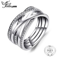 Wholesale tungsten line resale online - Jewelrypalace Sterling Silver Rings Cosmic Lines Statement Ring Wedding Band Infinity Love Fine Jewelry Anniversary Gfits S18101002