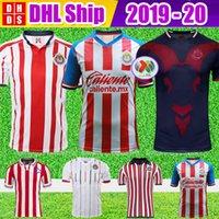 futebol futebol jersey transporte gratuito venda por atacado-DHL Frete Grátis 2019 2020 LIGA MX Clube Chivas de Guadalajara Soccer Jersey Kit 18 19 20 Camisa de Futebol Início Camisas de Futebol Camisas
