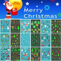 Wholesale design for christmas balls resale online - Merry Christmas Luminous Temporary Tattoo Sticker Snowman Ball Santa Claus Snowflake Decal Design for Kid Tattoo Decoration Happy Gifts