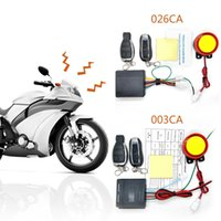 Wholesale up alarm resale online - 12V Universal Motorcycle Burglar Alarm Car Detector Double Remote Control Optional Start up Flameout Double Flashing