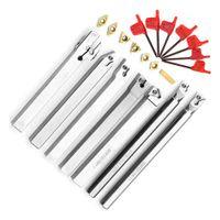 torno girado venda por atacado-Novo 21 Pcs 10mm Turning Ferramenta Titular Torno Chato Bar + Carbide Insert + Wrench Set