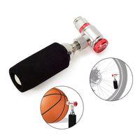 ventile manuell großhandel-Aluminiumlegierungsfahrrad-manuelles Inflator-Patronenventil CO2-Inflator-Patronen-Adapter Presta Schrader-Ventil kompatibel # 262854