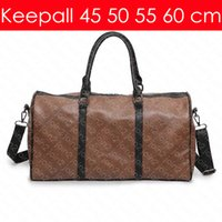 Wholesale travel blue accessories for sale - Group buy KEEPALL BANDOULIERE cm Designer Fashion Women s Men s Travel Duffel Bag Luxury Tote Rolling Softsided Luggage Accessories M41414