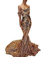 görüntüler kız geri toptan satış-Gerçek Görüntü Seksi Siyah Gelinlik Modelleri Altın Sequins Dantel Mermaid afrika Abiye giyim Siyah Kız Çift Gün Artı Boyutu Vestidos De Festa