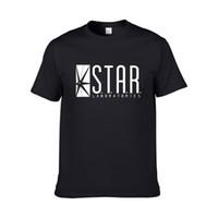 tipo camisa pescoço venda por atacado-Star Labs Designer de Estilo Camisas de Algodão O-pescoço Letras Imprimir Novo Verão Casual Tipo de Venda Quente de Manga Curta