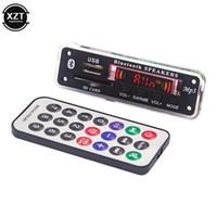 ingrosso 12v decoder-Wireless Bluetooth 5.0 5 V 12V MP3 WMA Decoder Scheda Audio Modulo USB SD AUX FM lettore musicale Radio con telecomando per auto