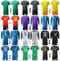 spanien jugendfußball jersey großhandel-Jugend David De Gea Spanien Torwart GK Fußball-Trikot Goalie Set 1 Iker Casillas 13 Kepa Arrizabalaga 23 Pepe Reina Fußball-Hemd-Kits