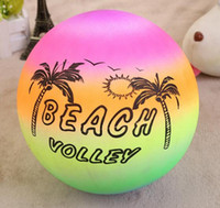 Wholesale pool thickening resale online - 22cm Beach Ball Kids Games Thicken PVC Inflatable Pool Toys Ball Outdoor Play Sport Toys Kids Sand Play