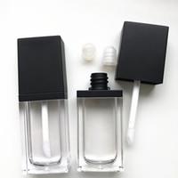 Wholesale mini lipstick gloss resale online - 8 ml empty Lipstick Tube Lip Gloss Container Tube Brush Mini Lip Balm Tube Refillable Pot Cosmetic Container KKA7739