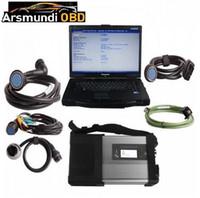 mb star mitsubishi venda por atacado-WIFI MB Estrela C5 Estrela Diagnóstico com Laptop CF52 + Software V2019.7 HDD 320 GB Instalado Pronto para MB Carros Caminhões Diagnosticar