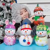 ingrosso bambole di pupazzo di neve di natale-Nuovo 25 centimetri Christmas Snowman Doll peluche giocattoli Capodanno regalo bambola creativa Primavera Estate Autunno Inverno Snowman Doll morbido cotone PP