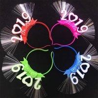 faixas de festas venda por atacado-2019 Feliz Ano Novo LEVOU Faixa de Cabelo Hoop Flash Luminescência Luz de Natal Fontes Do Partido de Halloween Moda Cabeça Hairpin 2 3zy hh