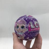 çocuklar boks topu toptan satış-Toptan Glitter Serisi Bebek Sihirli Yumurta Topu Action Figure Oyuncak Çocuklar kutu ambalaj Bebekler Kız Komik Giydirme Hediye Noel Ücretsi ...