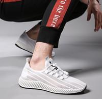 nefes alabilen dokuma ayakkabılar toptan satış-2019 erkek ayakkabıları yaz nefes örgü erkek düşük beyaz ayakkabı erkekler sinek dokuma erkek ayakkabıları örgü nefes rahat erkekler