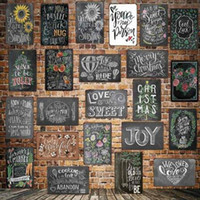 Wholesale free stickers resale online - Dad s BBQ Tin Signs Metal Plate Wall Pub Kitchen Restaurant Home Art Decor Vintage Wall Sticker Cuadros DHL Free