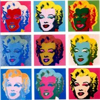 Wholesale marilyn monroe canvas prints for sale - Group buy Andy Warhol Marilyn Monroe Handpainted HD Print famous Abstract Portrait Art oil painting Wall Art Home Decor On High Quality Canvas p417