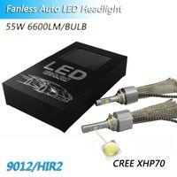 Wholesale c bulbs resale online - 12V P70 C REE XHP70 chips W lm led headlight bulb H4 H7 HB3 HB4 HIR2 H11 H8 H9 Fanless car headlight bulb