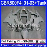 ingrosso perle abs-Corpo + serbatoio per HONDA CBR 600 F4i Bianco perla tutto CBR 600F4i CBR600FS 600 FS 286HM.25 CBR600F4i 01 02 03 CBR600 F4i 2001 2002 2003 Carene