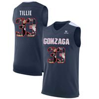 ingrosso pullover di basket usa-Mens Killian Tillie Jersey Custom Gonzaga Bulldogs College Basketball Maglie Moda Bandiera USA di alta qualità cucita taglia S-XXL