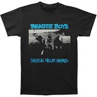 erkek gömlek kontrolleri toptan satış-Beastie Boys erkek Kafanı Kontrol Mens Yumuşak T Slim Fit T-shirt Siyah