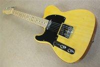 ko großhandel-Freies verschiffen Fabrik custom shop 2016 Neue telecaster gelb holz AHORN griffbrett 6 string e-gitarren