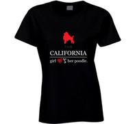 boyun tasarımı kız gömlek toptan satış-Bu Kaliforniya Kız Onu Seviyor O-Boyun Kısa Kollu T-Shirt Kadınlar için 2017 Yaz Kawaii Marka Tasarım kadın T Gömlek Gevşek