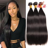 Wholesale girls straight hair online - cheap human hair weave bundles Brazilian Straight Human hair bundles brazilian straight weave hairstyles for fashion girl