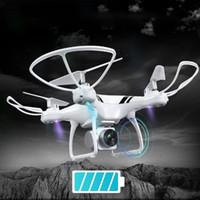 drone hd câmera fpv venda por atacado-KY101S RC Drone com Wifi FPV HD Câmera Ajustável Altitude Hold One Key Retorno / Landing / Off Headless RC Quadcopter Zangão