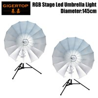 Commercial Lighting 4in1 Road Case Pack Rgb Led Umbrella Light Eye Catcher Rainbow Effect Dmx512 Control Easy Installation Diameter 87cm Cmy Color Moderate Price