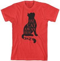 animal ausente venda por atacado-Um Gato Longe De Louco T-Shirt Engraçado Presente Do Amante Do Animal de Estimação mulheres fashin roupas camiseta tumblr graphic tees tops