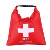 ilk yardım çantası torbaları toptan satış-Sıcak Satış 1.2L Açık Su Geçirmez Kuru Saklama Torbaları Taşınabilir Kamp Seyahat Memba Keşif Tıp Çuval Acil Ilk Yardım Kitleri