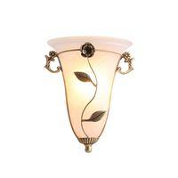 lampes de chevet en cuivre achat en gros de-OOVOV américain Village Copper verre Appliques Creative Salon chevets Corridor Balcon mur Lampes Sconces mur