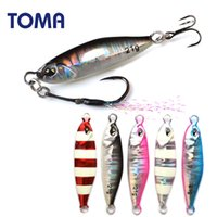 Wholesale suspend lures resale online - TOMA Lead Metal Luminous Jig g g g Saltwater Suspending Slow Micro Fishing Jigging Spoon Lure with Hooks Tackle