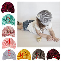 Wholesale Baby Pearl Knot Hat Girls Boys Cap Bohemian Style Kids Colors Hats Newborn Photography Props Caps Accessories