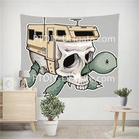 Wholesale modern fishing decor resale online - Tapestry fabric jeremy fish turtle for Living Room Bedroom Dorm Home Decor