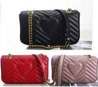 kutu torbaları toptan satış-Lüks Çanta Yüksek Kaliteli Çanta Tasarımcısı Orijinal Yumuşak Koyun Hakiki Deri Kadın Omuz Çantaları Kutusu Ile Gel
