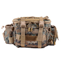 Fishing Bag Waterproof Outdoor Single Shoulder Fishing Waist Pack Bag Lure Reel Tackle Pesca Storage Bag,Brown